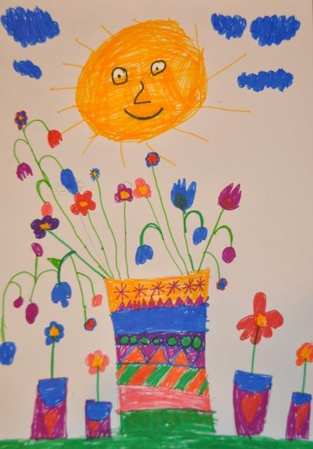 Kripner Félix : A nap örül,hogy a sugaraitól ilyen szépek lesznek a virágok